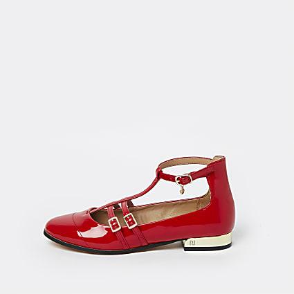 Red RI ballerina shoes