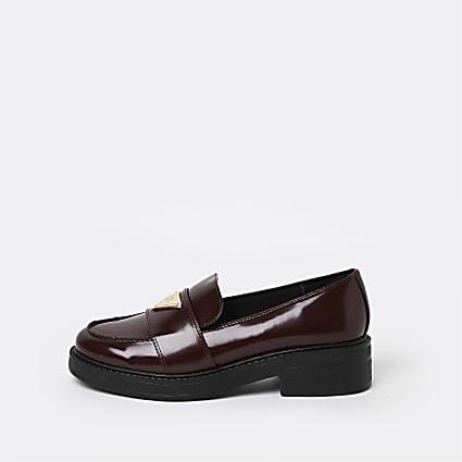 Red RI branded loafer
