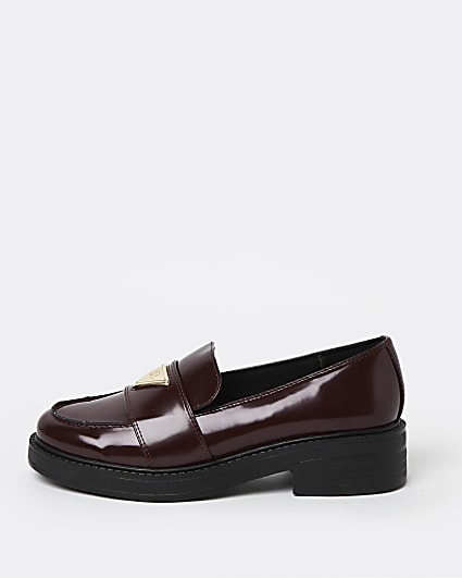 Red RI branded loafers