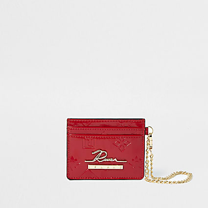 Red RI embossed cardholder