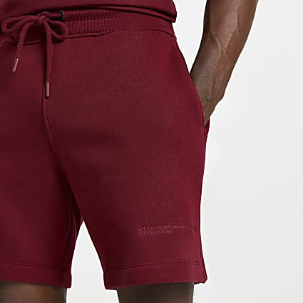Red RI ONE signature shorts