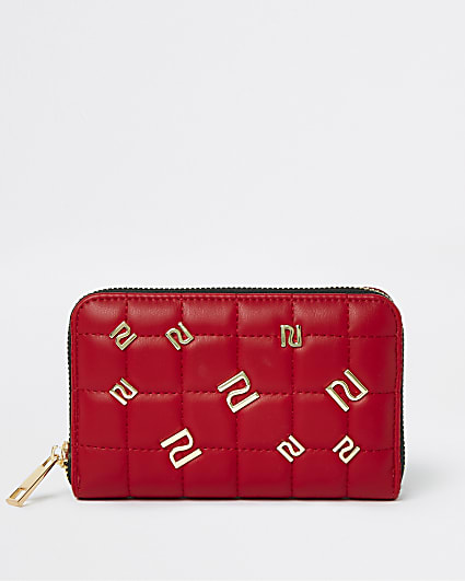 Red RI studded purse