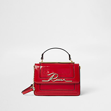 Red 'River' large satchel bag