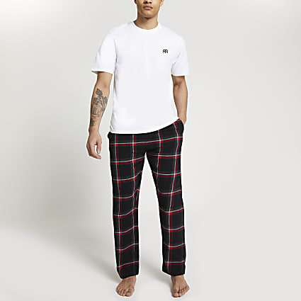 Red 'RR' check pyjama set