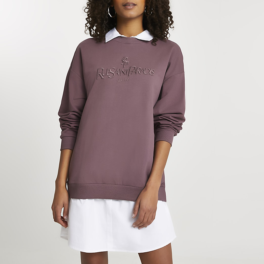 Red 'Rue Saint Paradis' sweatshirt