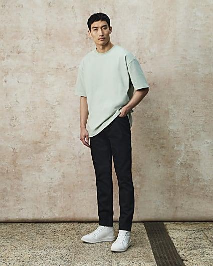 RI Studio black premium slim fit jeans