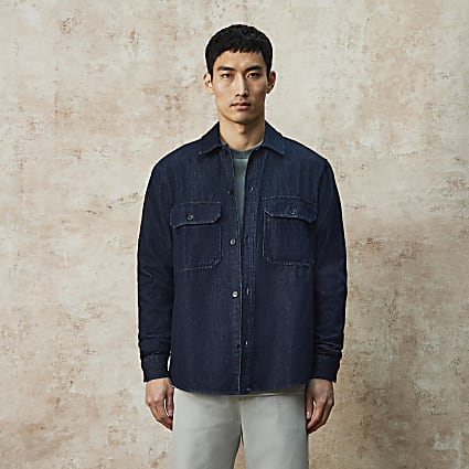 RI Studio blue denim shacket