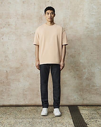 RI Studio dark blue slim fit selvedge jeans