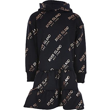RI x Hype black 'Hype' hoodie