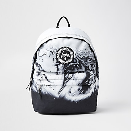 RI x Hype boys black Hype marble backpack