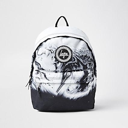 RI x Hype boys black Hype marble backpack