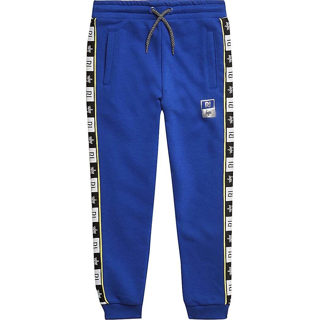RI x Hype boys blue side tape joggers