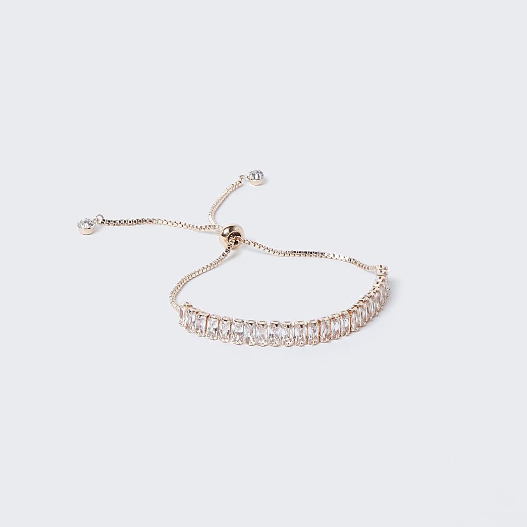 Rose Gold Baguette Toggle Bracelet