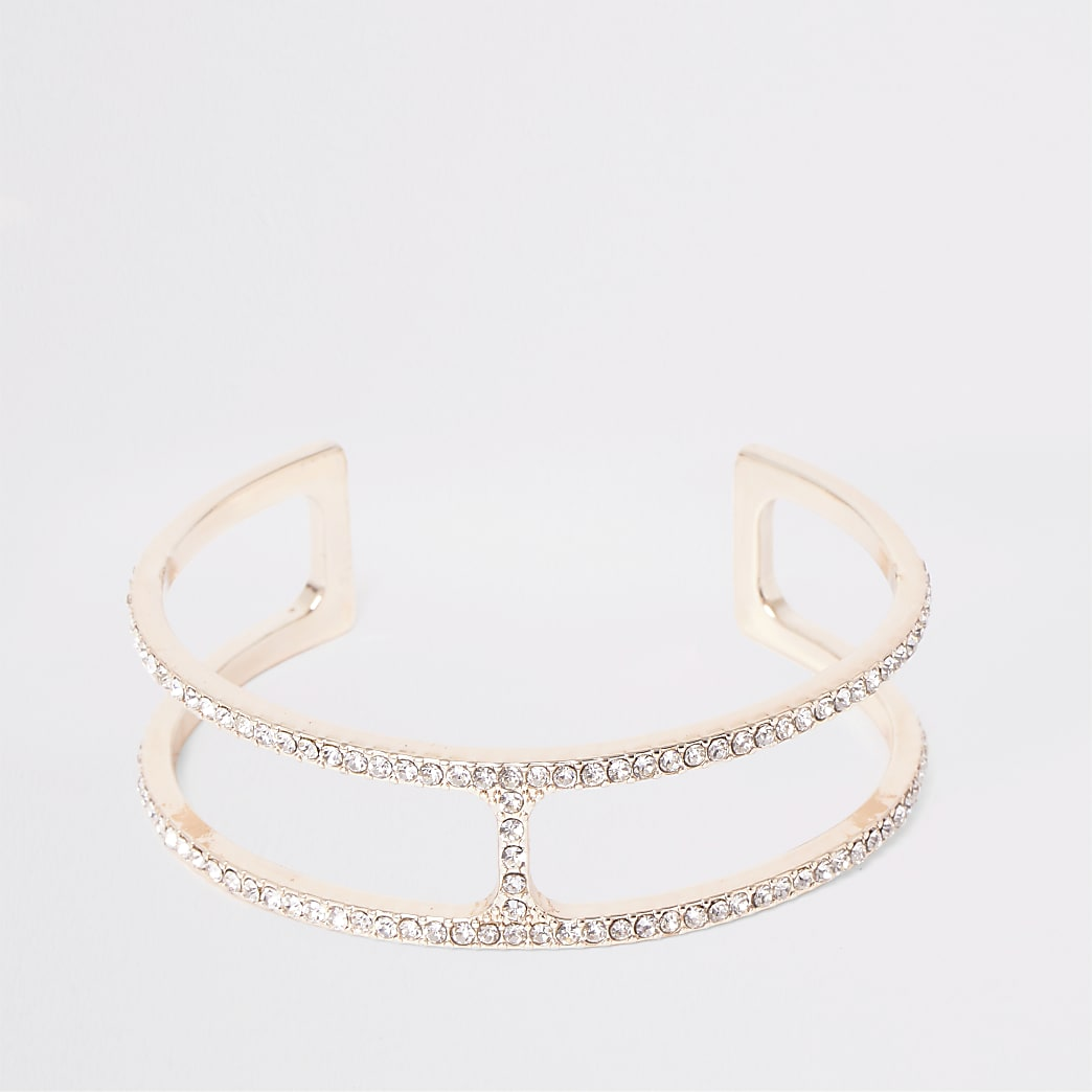 Rose gold colour cuff bracelet