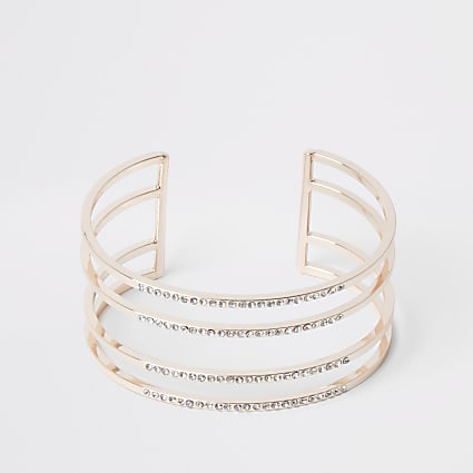 Rose gold colour cuff bracelet