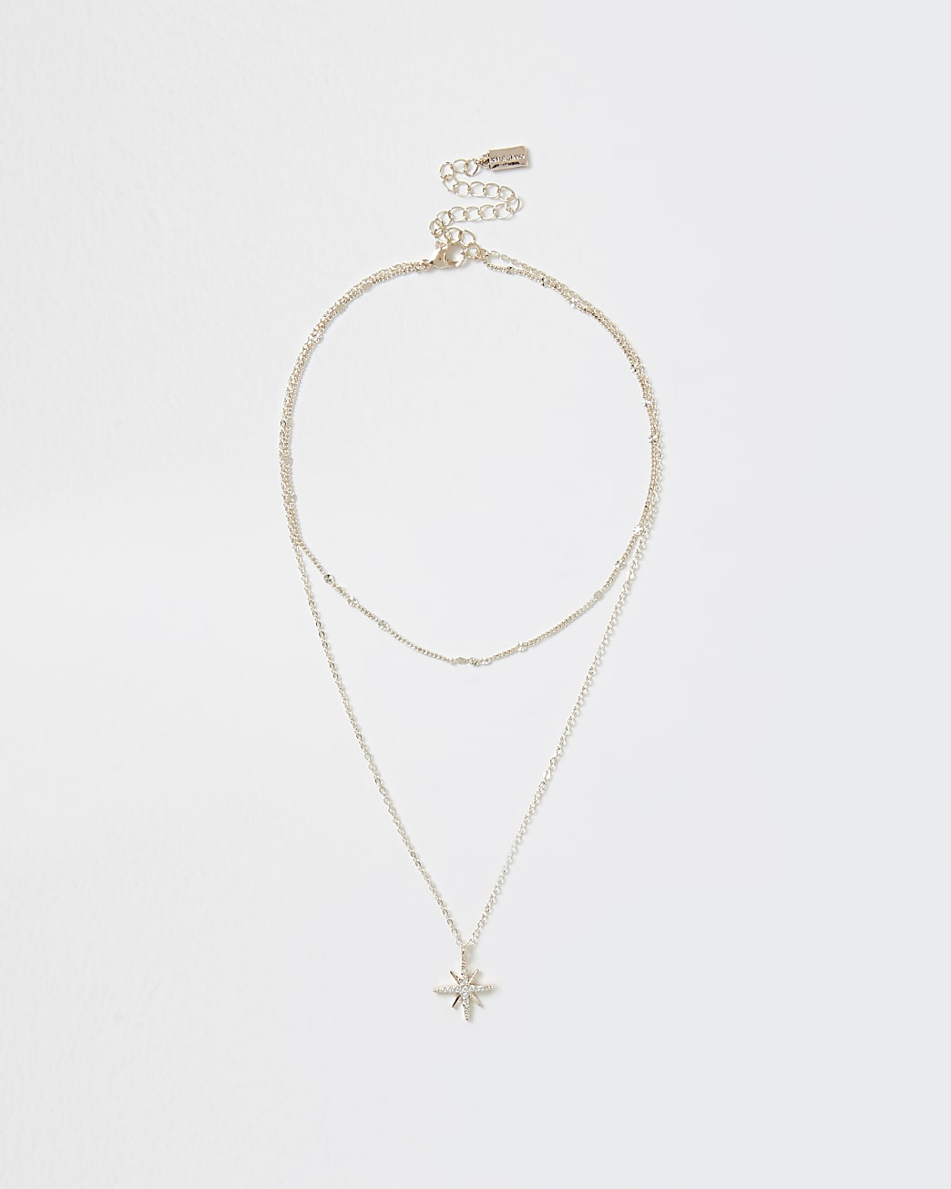 Rose gold colour star charm necklace