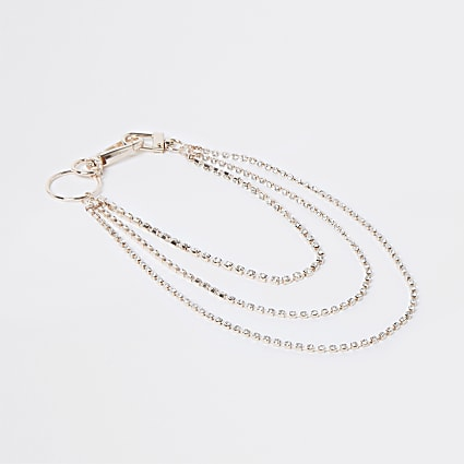 Rose gold colour wallet chain