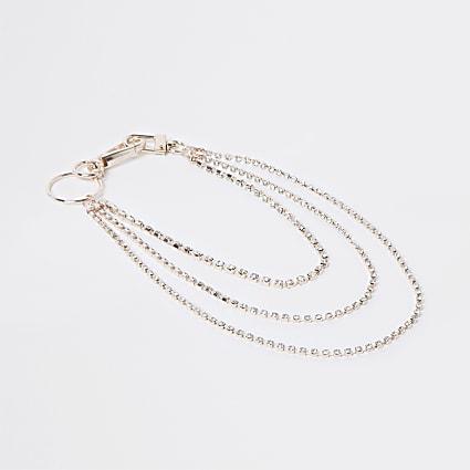 Rose gold colour wallet chain