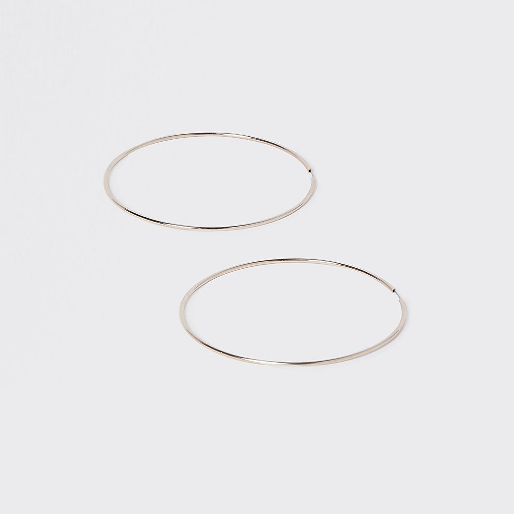 Rose Gold Colour Wire Hoop