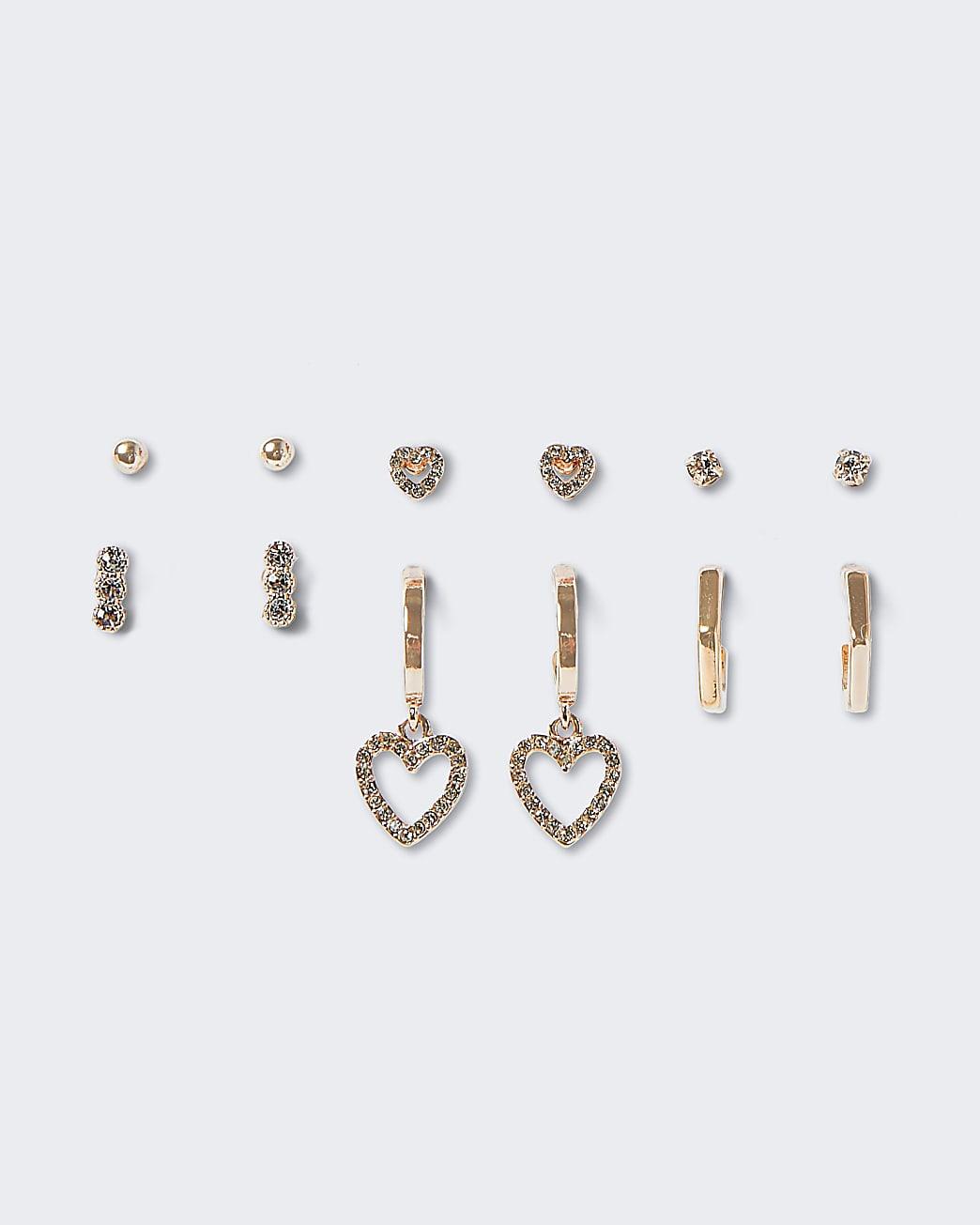 Rose Gold Crystal Earring Multipack