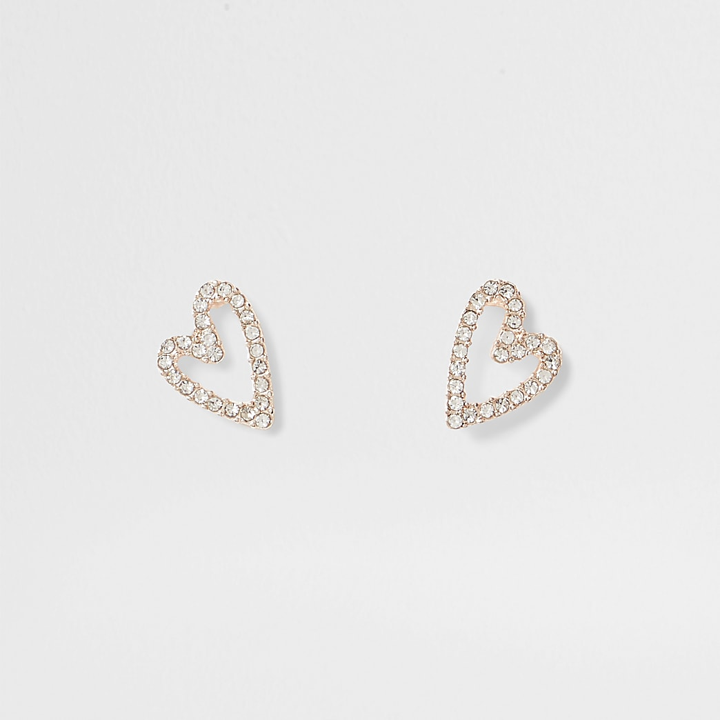 Rose gold crystal heart suds