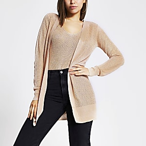 Rose gold diamante knitted cardigan