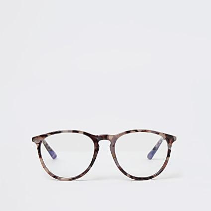 Rose Gold print blue light lens glasses