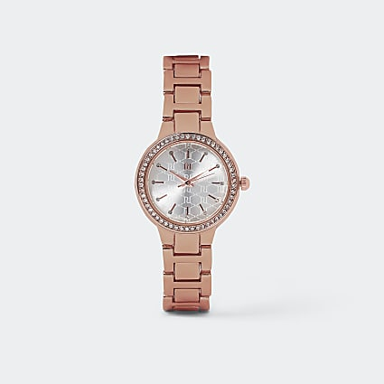 Rose gold Slim Crystal Watch