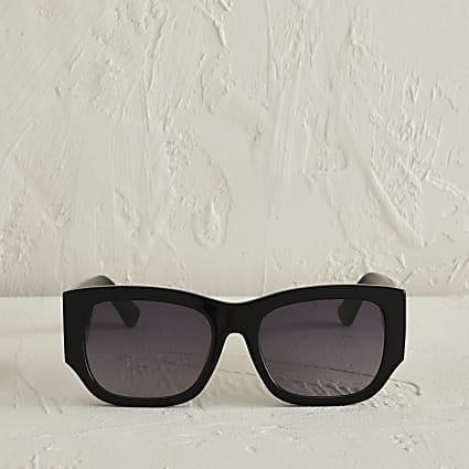 RSD Black acetate large cateye sunglasses