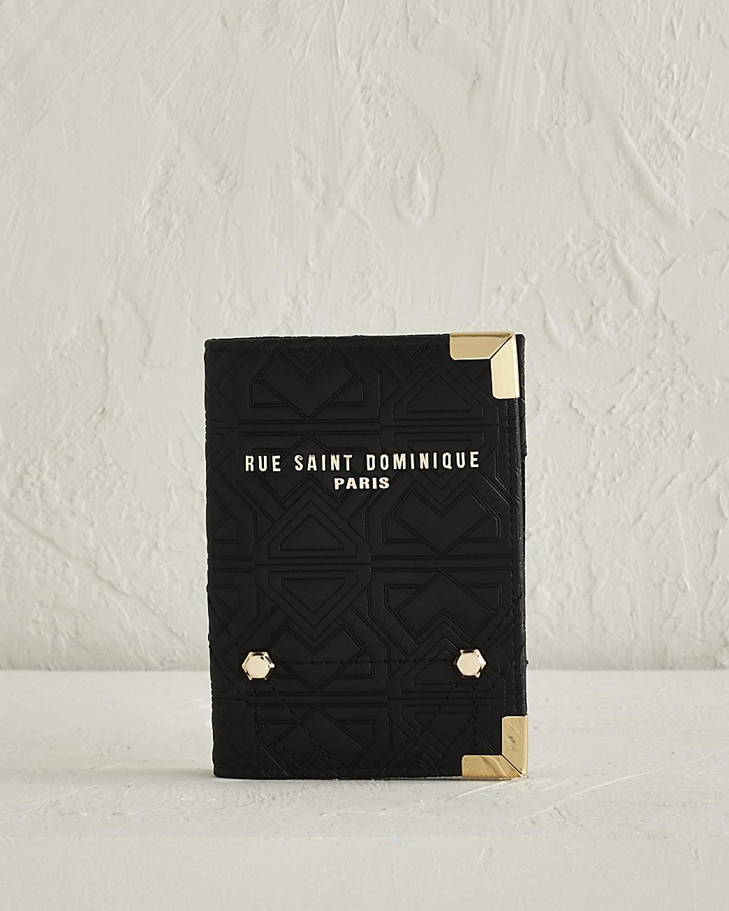 RSD black embossed passport holder