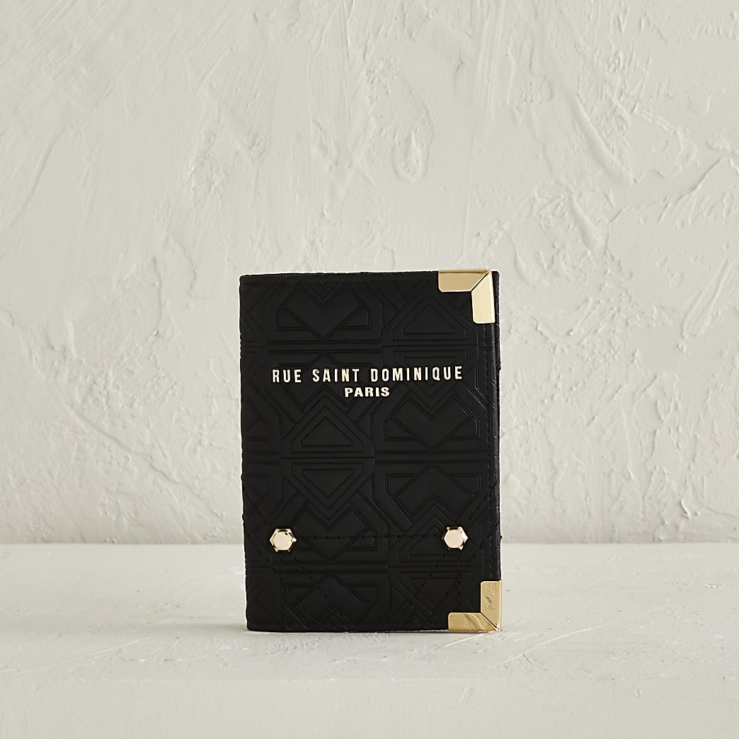 RSD Black Embossed Passport Holder