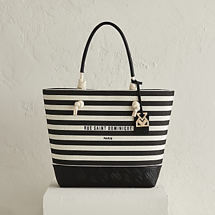 RSD black stripe shopper bag