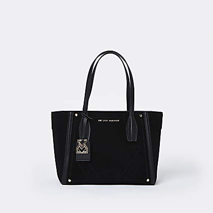 RSD Black Suede Shopper Bag