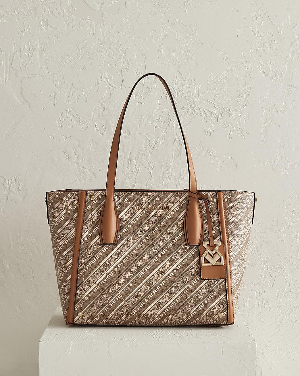 RSD brown monogram shopper bag