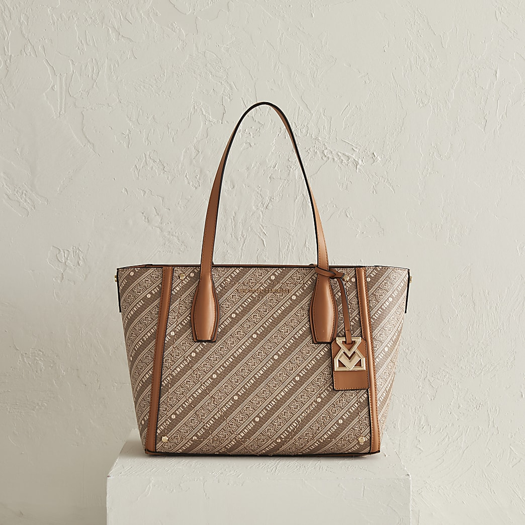 RSD Brown Monogram Shopper Bag