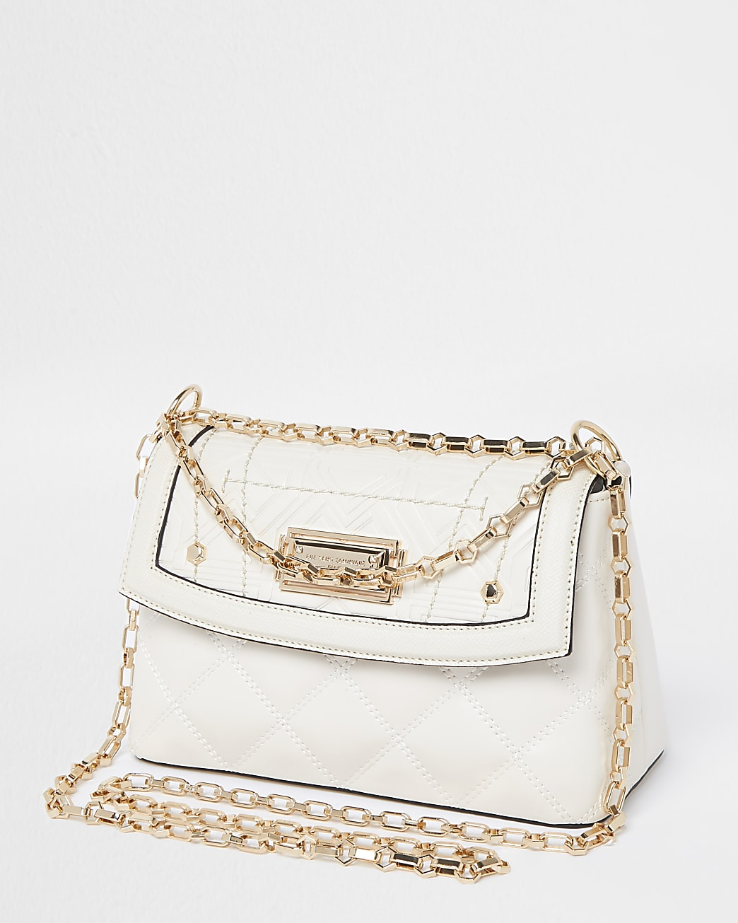 RSD Cream Croc and Quilted Shoulder Bag