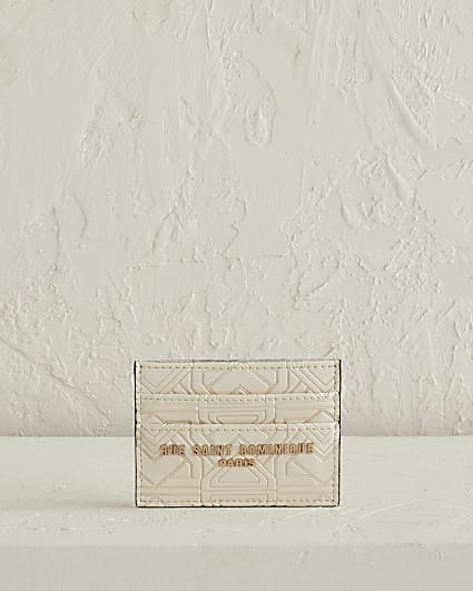 RSD cream leather card holder