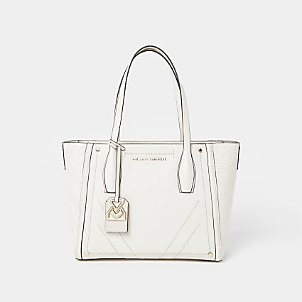RSD Cream Shopper Embossed Monogram Bag