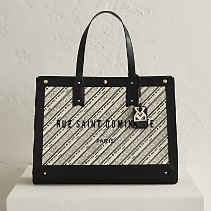 RSD Cream Woven Printed Square Shopper Bag