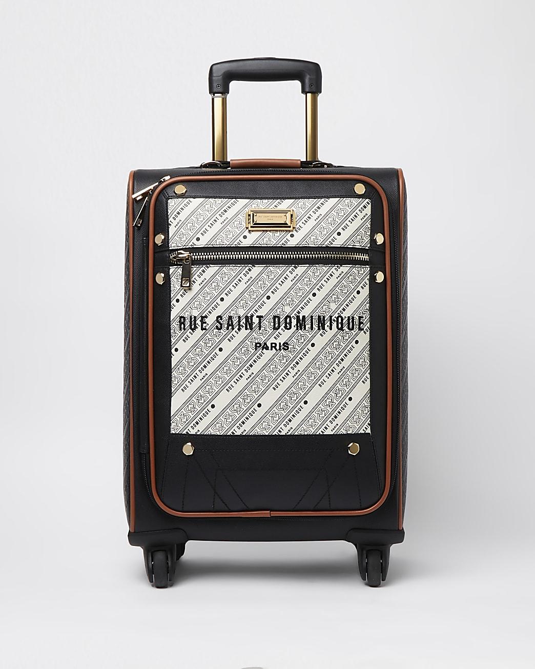 RSD cream woven suitcase