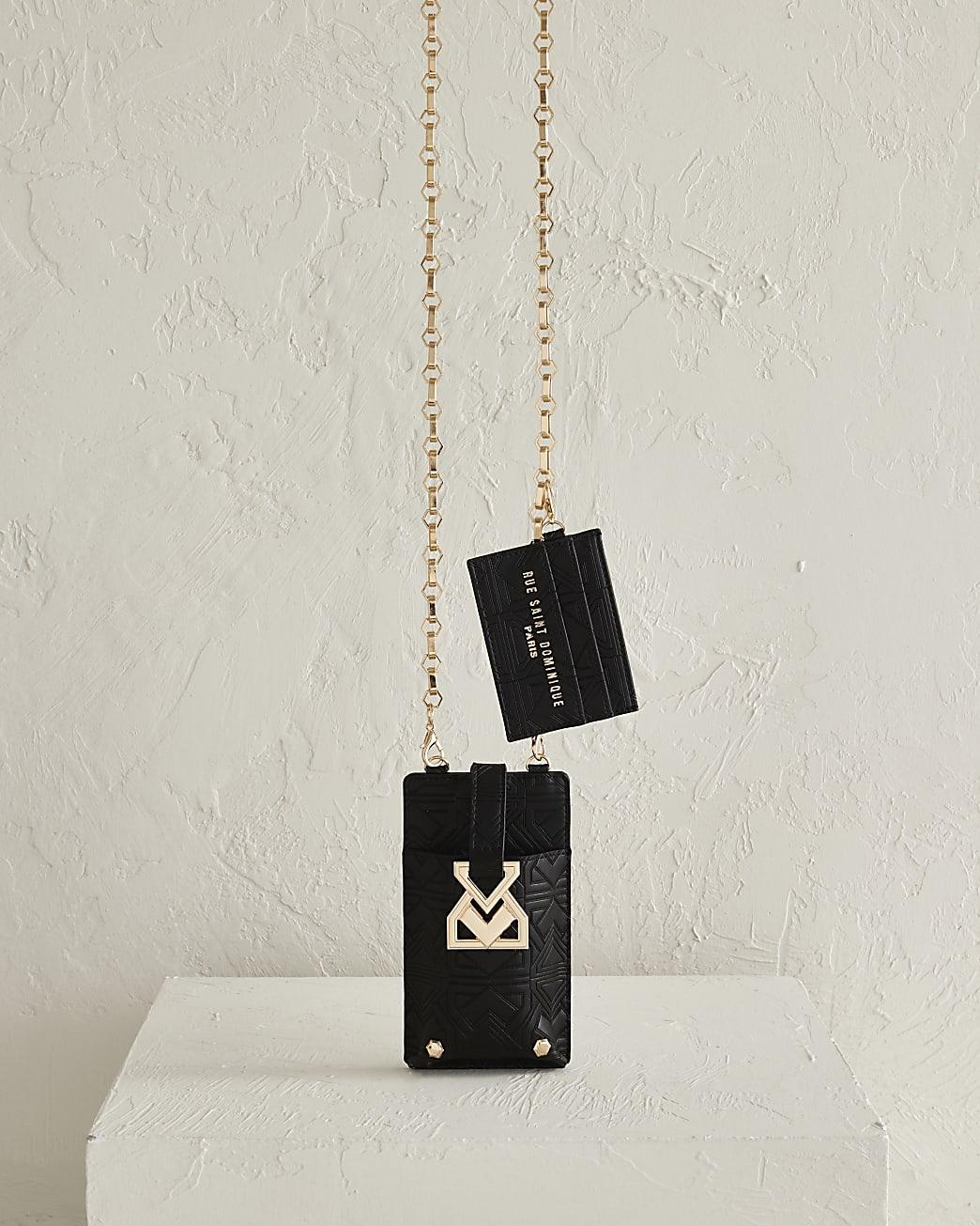 RSD embossed phone holder cross body bag