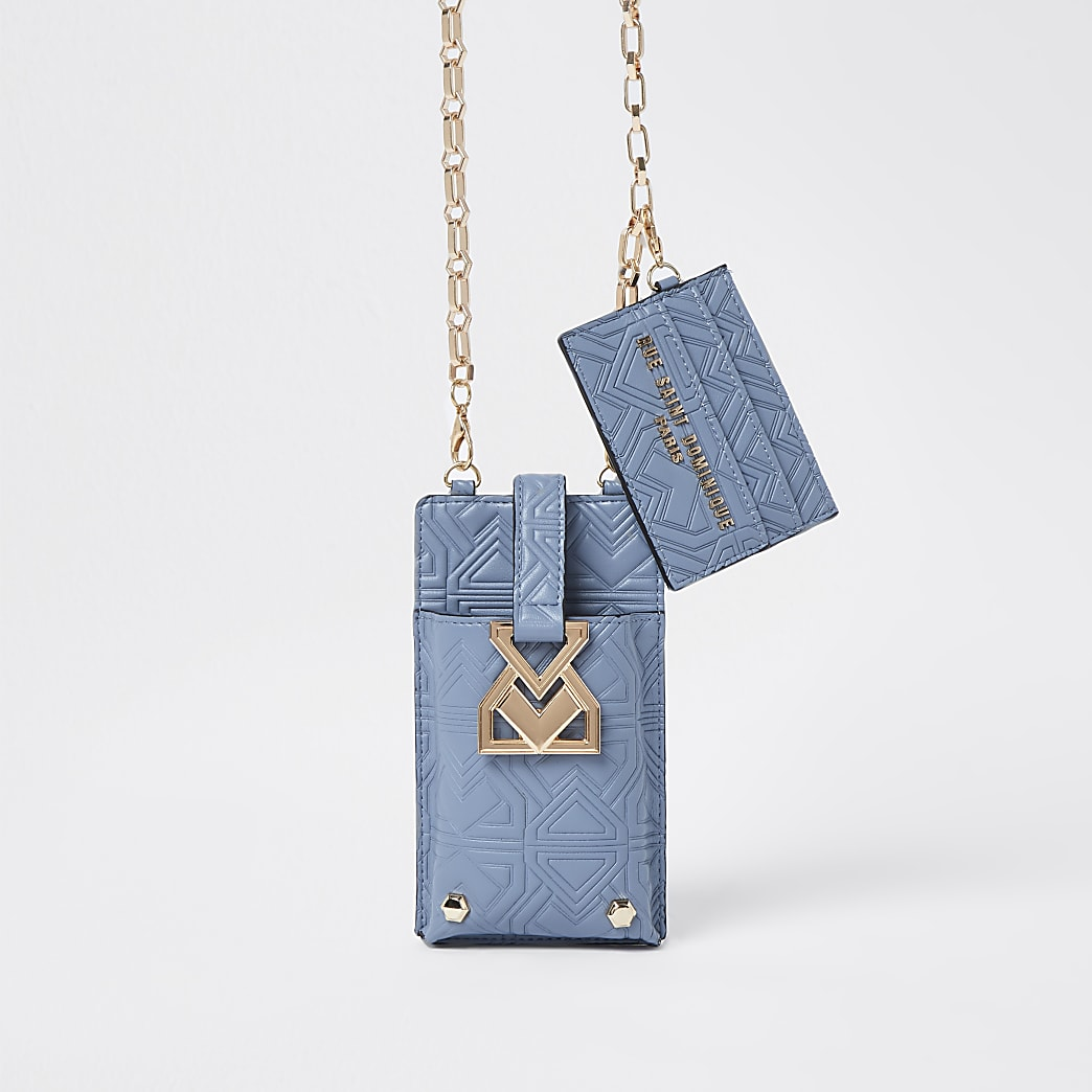 RSD Embossed Phone Holder Cross Body Bag