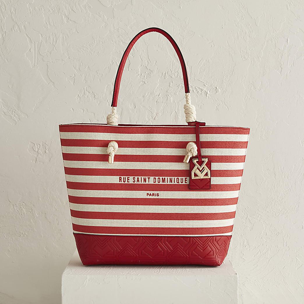 RSD red stripe shopper bag