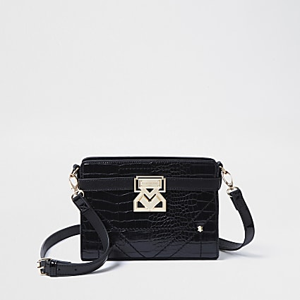 Rue Saint Dominique black boxy crossbody bag