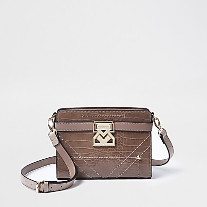Rue Saint Dominique pink boxy crossbody bag