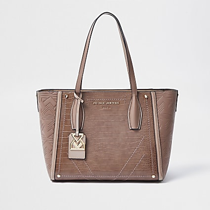 Rue Saint Dominique pink shopper handbag