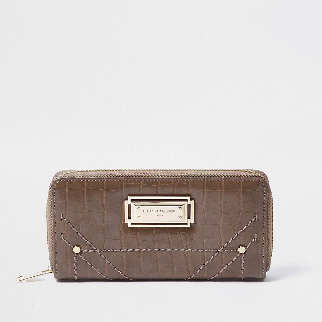 Rue Saint Dominique pink zip around purse