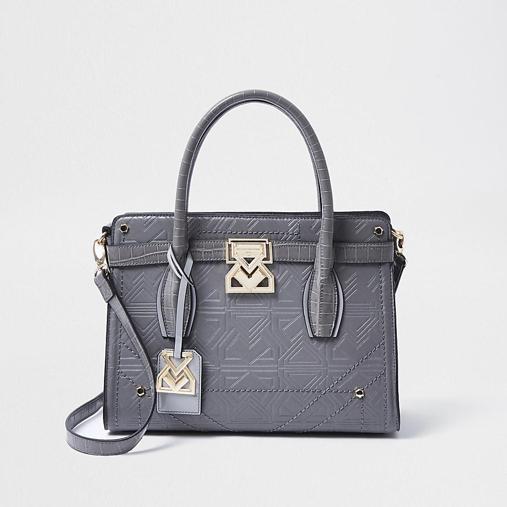 Rue Saint Dominque grey tote handbag