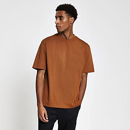 Rust oversized short sleeve t-shirt