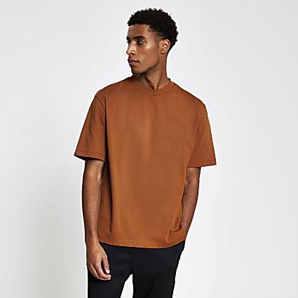 Rust oversized short sleeve t-shirt